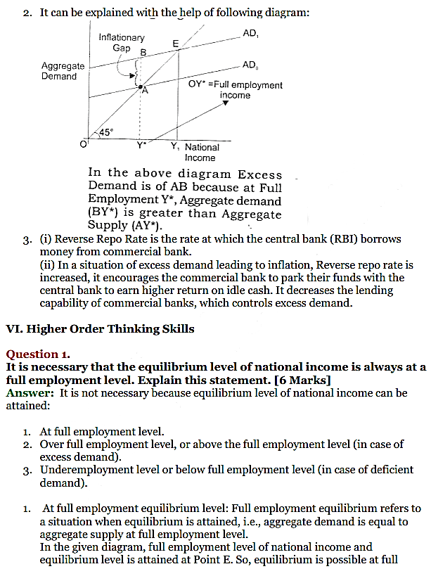 NCERT Solutions for Class 12 Macro Economics Chapter 7 Excess Demand and Deficient Demand 18