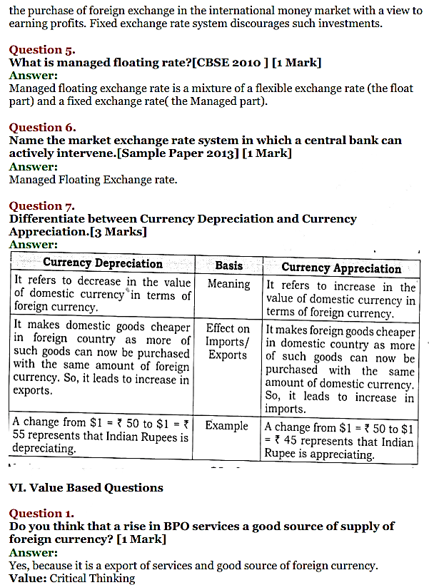 NCERT Solutions for Class 12 Macro Economics Chapter 9 Foreign Exchange Rate 23