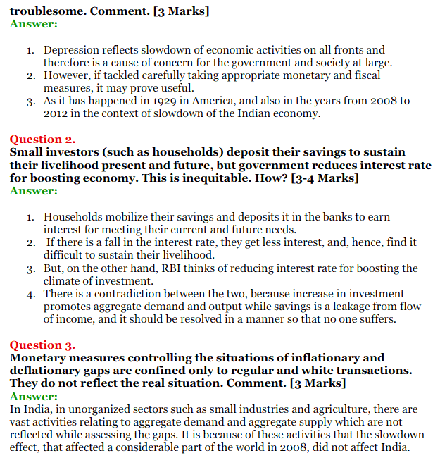 NCERT Solutions for Class 12 Macro Economics Chapter 7 Excess Demand and Deficient Demand 22
