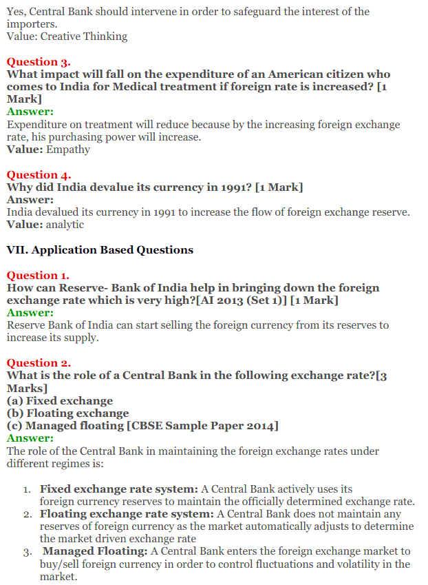 NCERT Solutions for Class 12 Macro Economics Chapter 9 Foreign Exchange Rate 25