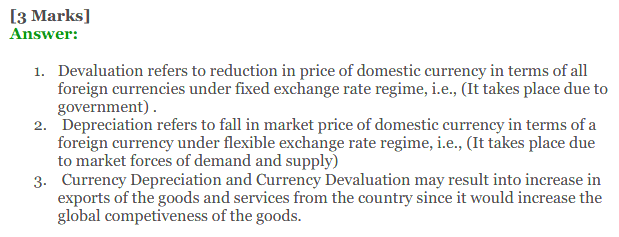NCERT Solutions for Class 12 Macro Economics Chapter 9 Foreign Exchange Rate 27