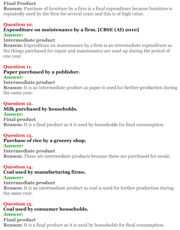 NCERT Solutions for Class 12 Macro Economics Chapter 1 Introduction to Macroeconomics and its Concepts 15