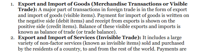 NCERT Solutions for Class 12 Macro Economics Chapter 10 Balance of Payment 7