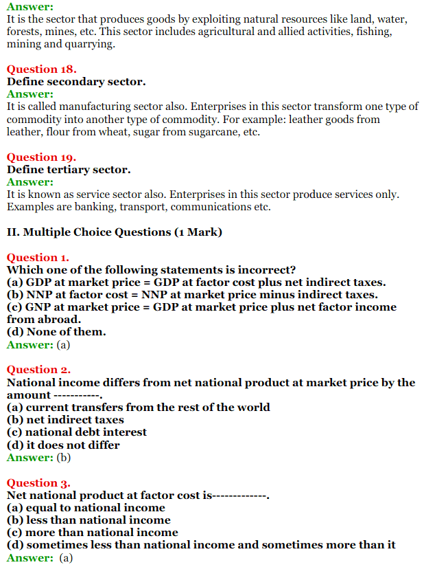 NCERT Solutions for Class 12 Macro Economics Chapter 2 National Income and Relation 13