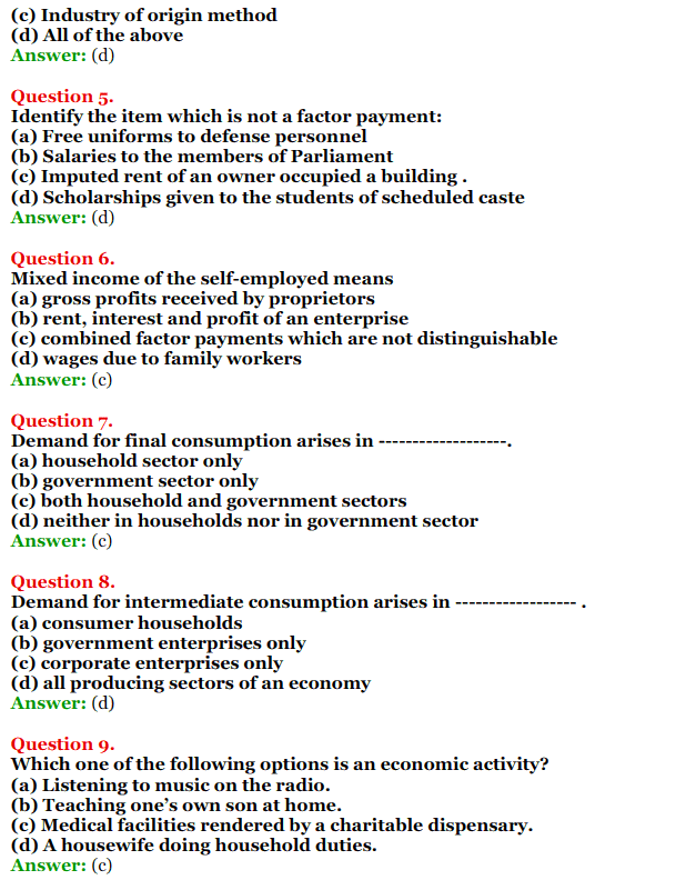 NCERT Solutions for Class 12 Macro Economics Chapter 2 National Income and Relation 15