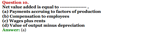 NCERT Solutions for Class 12 Macro Economics Chapter 2 National Income and Relation 16