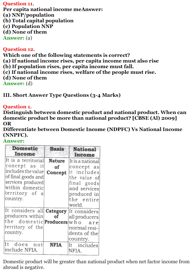 NCERT Solutions for Class 12 Macro Economics Chapter 2 National Income and Relation 17