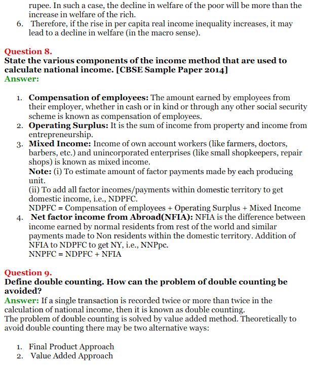 NCERT Solutions for Class 12 Macro Economics Chapter 2 National Income and Relation 24
