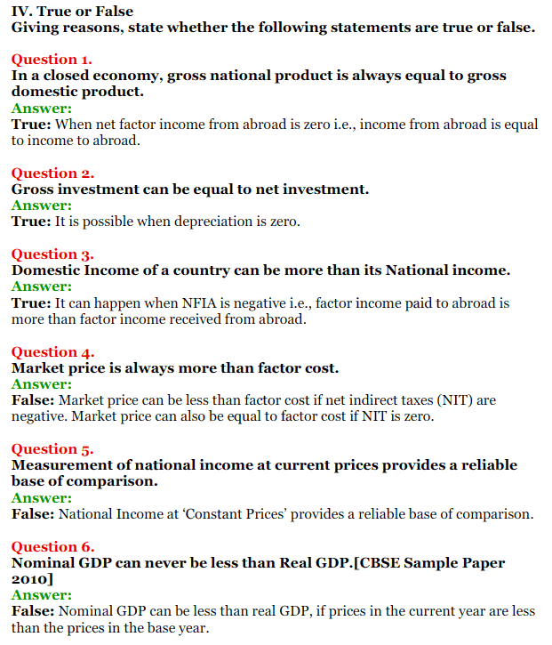 NCERT Solutions for Class 12 Macro Economics Chapter 2 National Income and Relation 26
