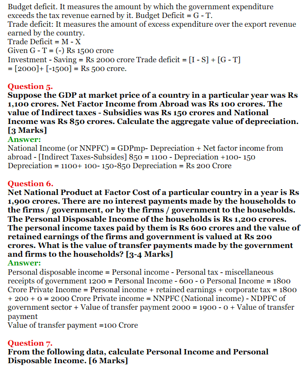 NCERT Solutions for Class 12 Macro Economics Chapter 2 National Income and Relation 2