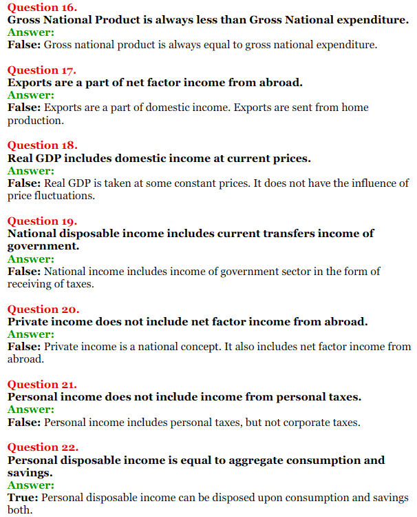 NCERT Solutions for Class 12 Macro Economics Chapter 2 National Income and Relation 30