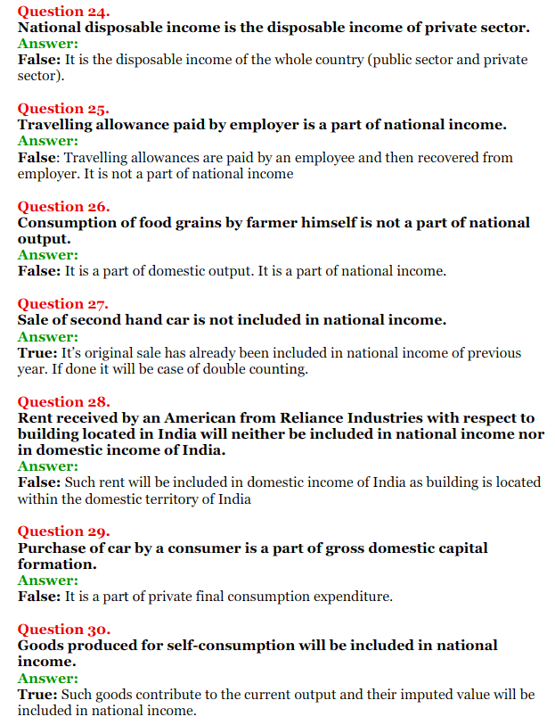 NCERT Solutions for Class 12 Macro Economics Chapter 2 National Income and Relation 32