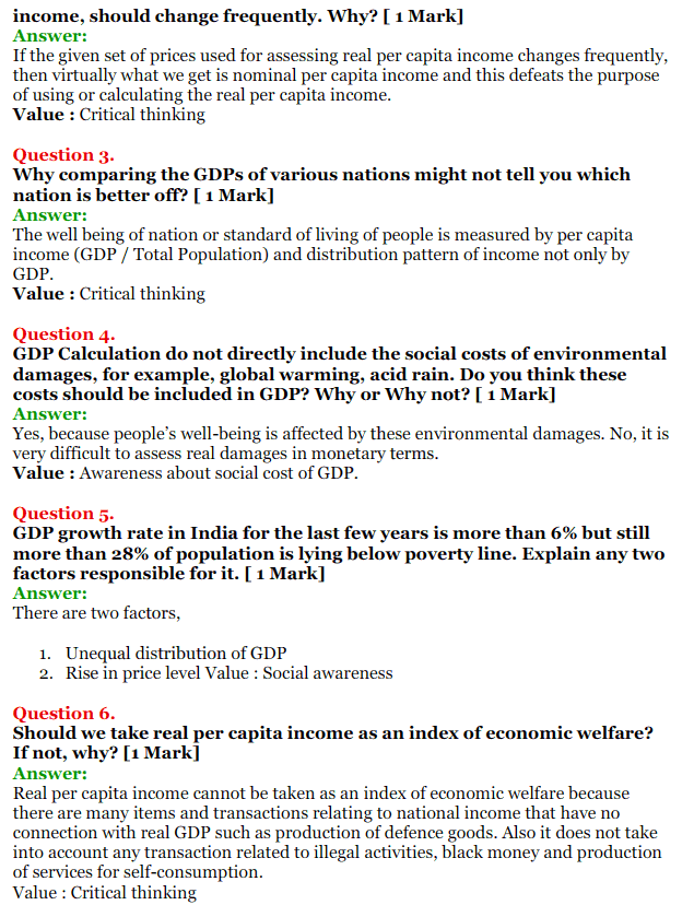 NCERT Solutions for Class 12 Macro Economics Chapter 2 National Income and Relation 45