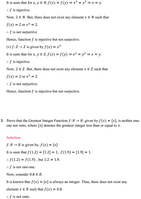 NCERT Solutions for Class 12 Maths Chapter 1 Relations and Functions Ex 1.2 4