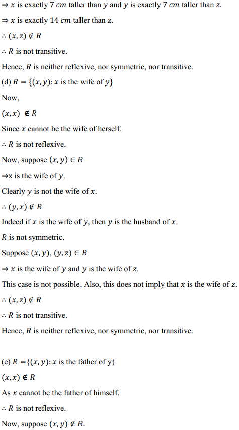 NCERT Solutions for Class 12 Maths Chapter 1 Relations and Functions Ex 1.1 5