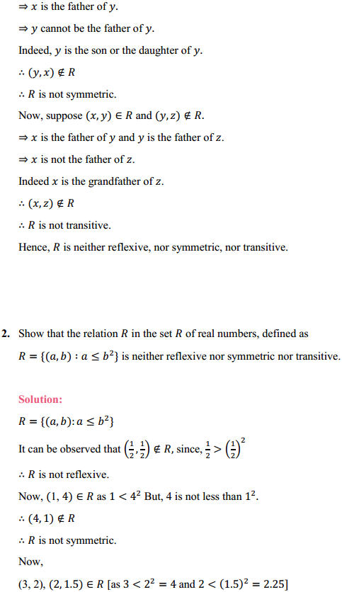NCERT Solutions for Class 12 Maths Chapter 1 Relations and Functions Ex 1.1 6