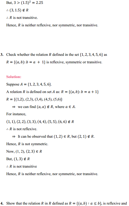 NCERT Solutions for Class 12 Maths Chapter 1 Relations and Functions Ex 1.1 7