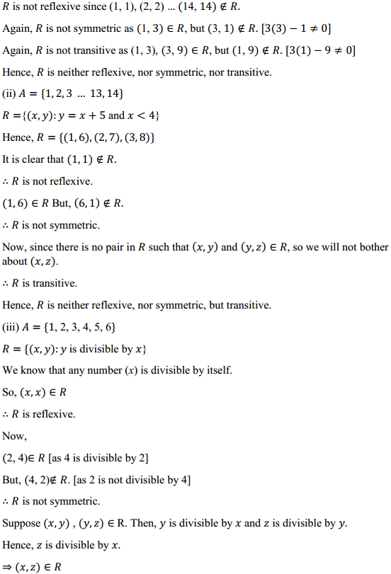 NCERT Solutions for Class 12 Maths Chapter 1 Relations and Functions Ex 1.1 2