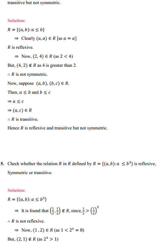 NCERT Solutions for Class 12 Maths Chapter 1 Relations and Functions Ex 1.1 8