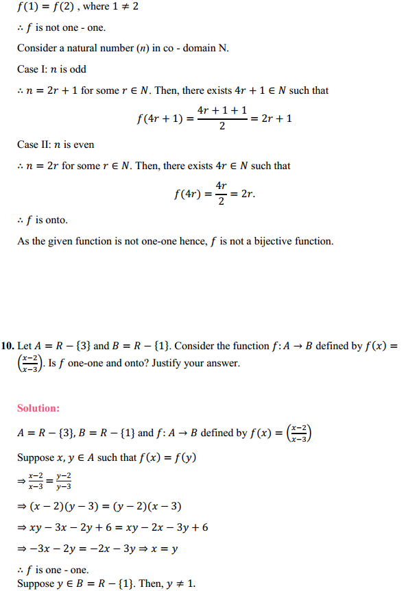 NCERT Solutions for Class 12 Maths Chapter 1 Relations and Functions Ex 1.2 9