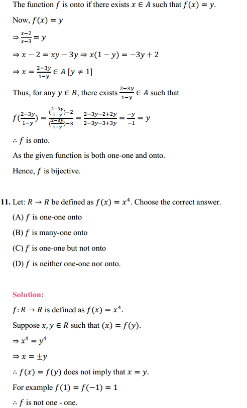 NCERT Solutions for Class 12 Maths Chapter 1 Relations and Functions Ex 1.2 10