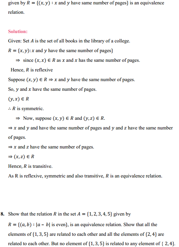 NCERT Solutions for Class 12 Maths Chapter 1 Relations and Functions Ex 1.1 10
