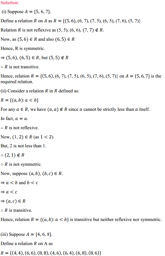 NCERT Solutions for Class 12 Maths Chapter 1 Relations and Functions Ex 1.1 14
