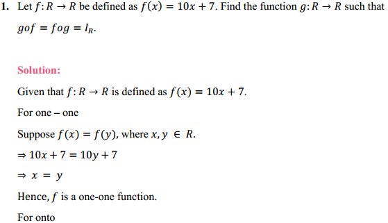 NCERT Solutions for Class 12 Maths Chapter 1 Relations and Functions Miscellaneous Exercise 1