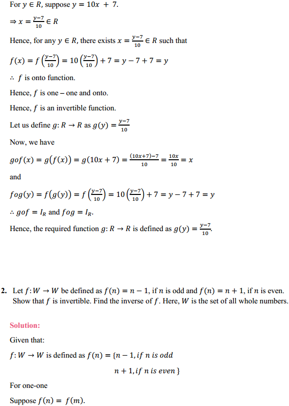 NCERT Solutions for Class 12 Maths Chapter 1 Relations and Functions Miscellaneous Exercise 2