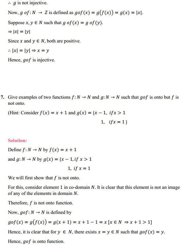 NCERT Solutions for Class 12 Maths Chapter 1 Relations and Functions Miscellaneous Exercise 7