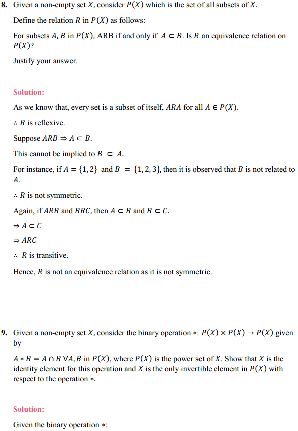 NCERT Solutions for Class 12 Maths Chapter 1 Relations and Functions Miscellaneous Exercise 8