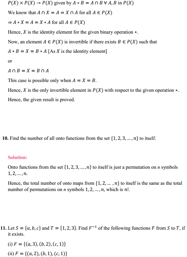 NCERT Solutions for Class 12 Maths Chapter 1 Relations and Functions Miscellaneous Exercise 9