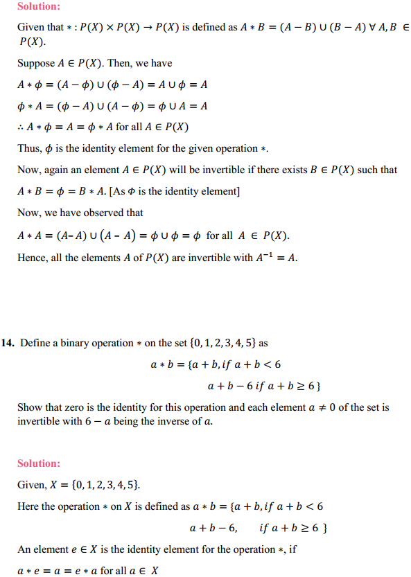 NCERT Solutions for Class 12 Maths Chapter 1 Relations and Functions Miscellaneous Exercise 12