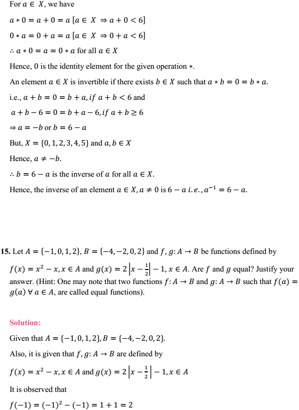 NCERT Solutions for Class 12 Maths Chapter 1 Relations and Functions Miscellaneous Exercise 13