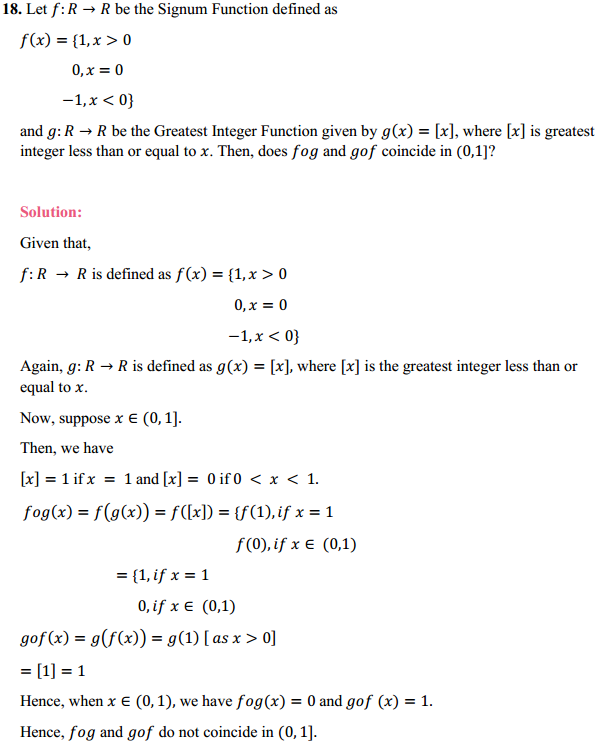 NCERT Solutions for Class 12 Maths Chapter 1 Relations and Functions Miscellaneous Exercise 16