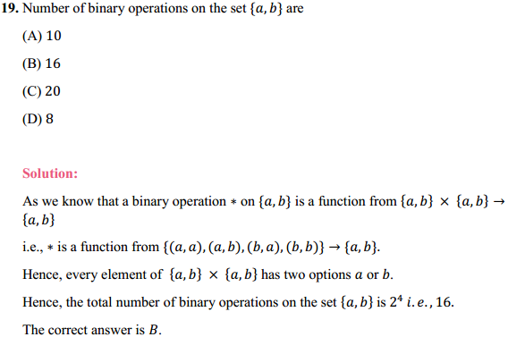 NCERT Solutions for Class 12 Maths Chapter 1 Relations and Functions Miscellaneous Exercise 17