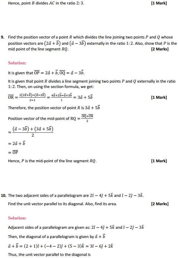 NCERT Solutions for Class 12 Maths Chapter 10 Vector Algebra Miscellaneous Exercise 6