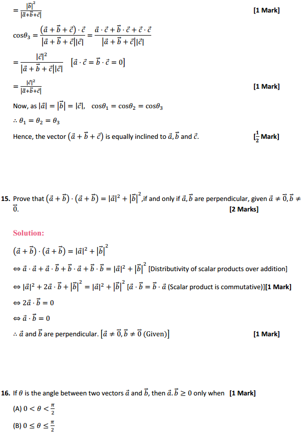 NCERT Solutions for Class 12 Maths Chapter 10 Vector Algebra Miscellaneous Exercise 10