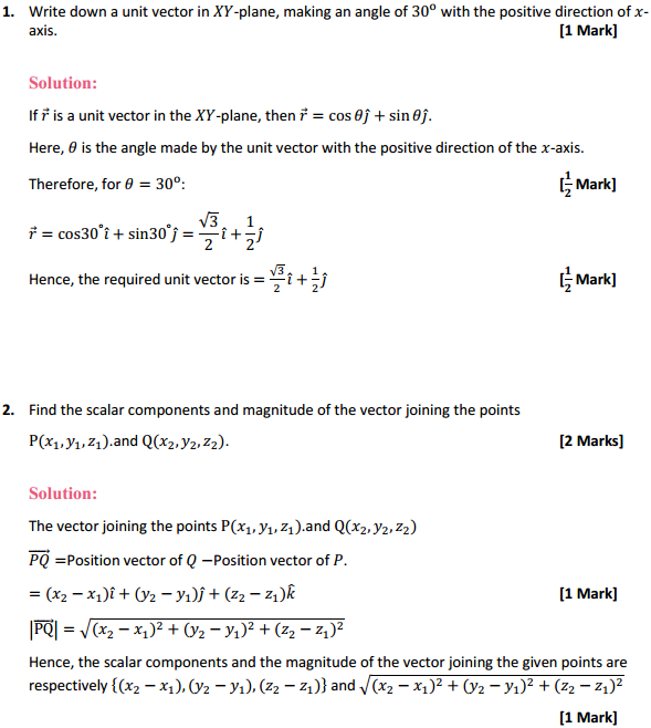 NCERT Solutions for Class 12 Maths Chapter 10 Vector Algebra Miscellaneous Exercise 1