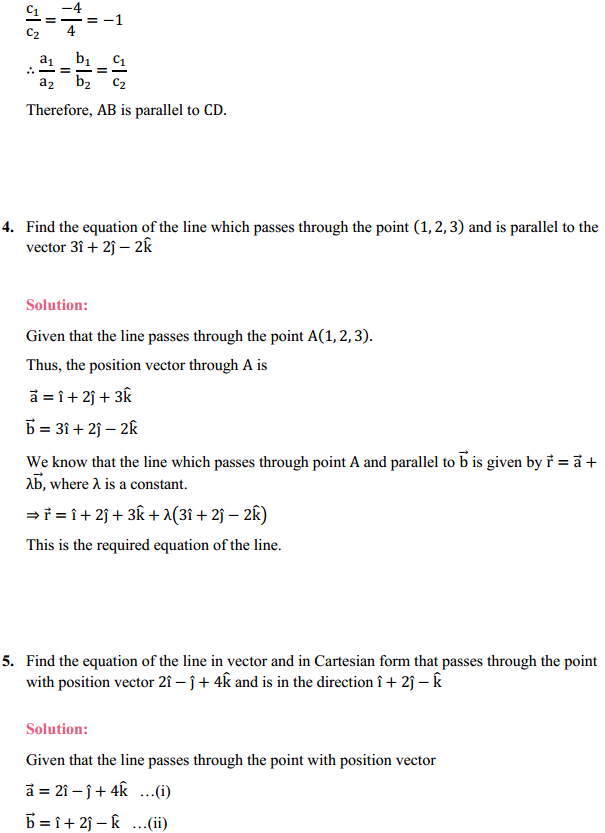 NCERT Solutions for Class 12 Maths Chapter 11 Three Dimensional Geometry Ex 11.2 4