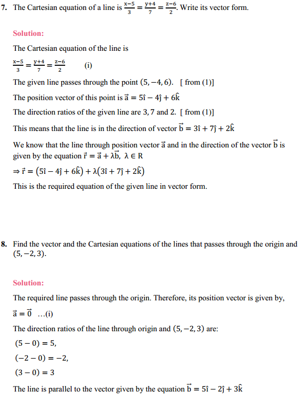 NCERT Solutions for Class 12 Maths Chapter 11 Three Dimensional Geometry Ex 11.2 6