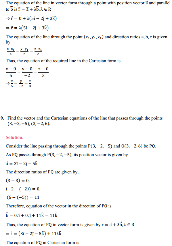 NCERT Solutions for Class 12 Maths Chapter 11 Three Dimensional Geometry Ex 11.2 7