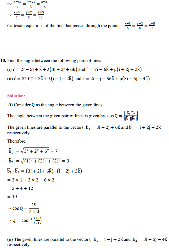 NCERT Solutions for Class 12 Maths Chapter 11 Three Dimensional Geometry Ex 11.2 8