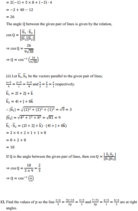 NCERT Solutions for Class 12 Maths Chapter 11 Three Dimensional Geometry Ex 11.2 10