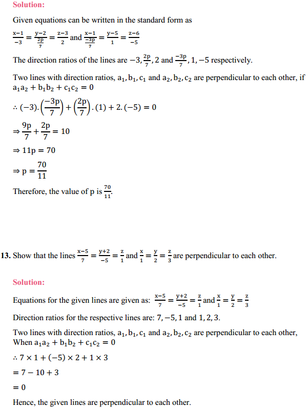 NCERT Solutions for Class 12 Maths Chapter 11 Three Dimensional Geometry Ex 11.2 11