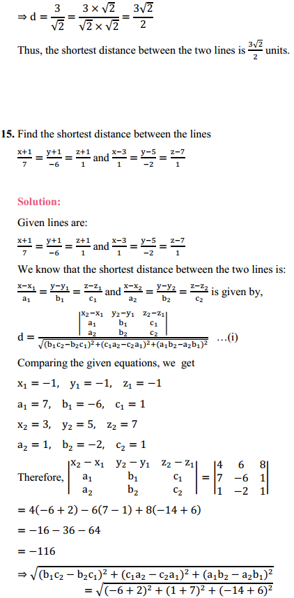NCERT Solutions for Class 12 Maths Chapter 11 Three Dimensional Geometry Ex 11.2 13