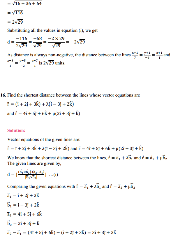 NCERT Solutions for Class 12 Maths Chapter 11 Three Dimensional Geometry Ex 11.2 14