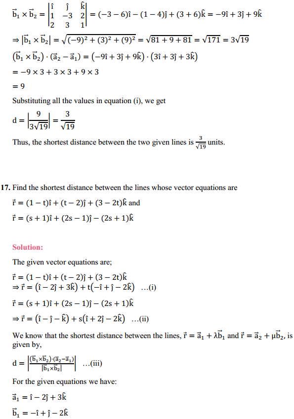NCERT Solutions for Class 12 Maths Chapter 11 Three Dimensional Geometry Ex 11.2 15