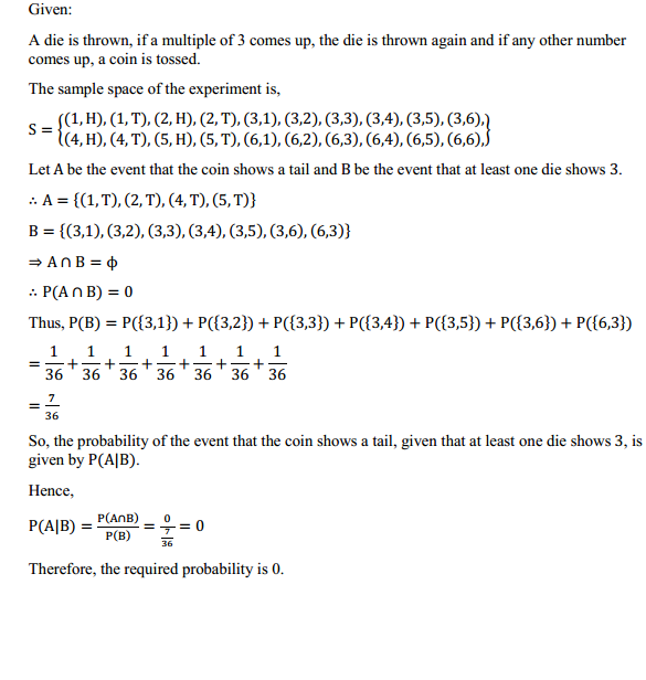NCERT Solutions for Class 12 Maths Chapter 13 Probability Ex 13.1 19