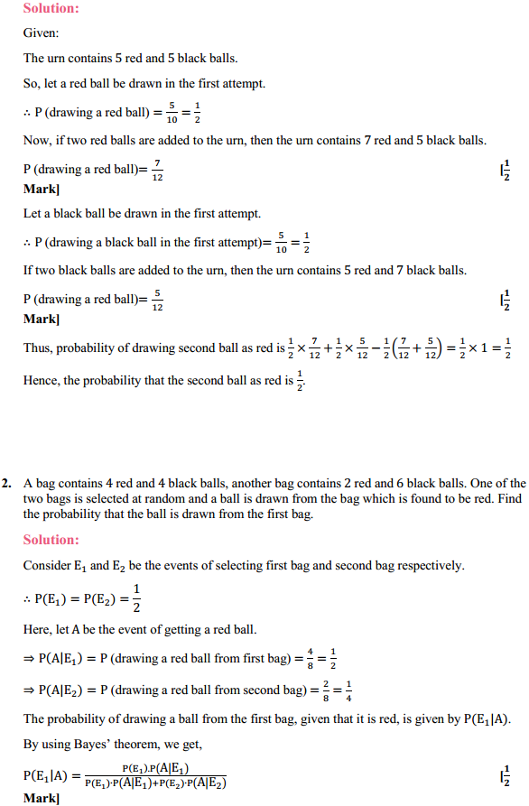 NCERT Solutions for Class 12 Maths Chapter 13 Probability Ex 13.3 2